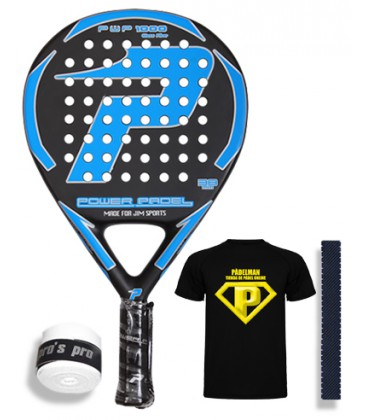 POWER PADEL 1000 GLASS FIBER NEGRA AZUL