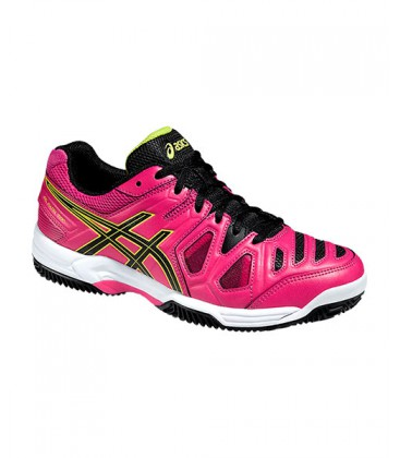 ASICS GEL PADEL TOP 2 SG ROSA NEGRO E65NJ 2190