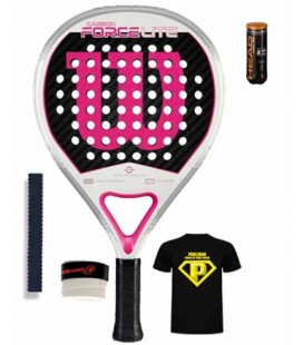 WILSON CARBON FORCE LITE BLANCO ROSA