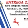 ENTREGA ESPECIAL SABADO 23