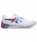 ASICS GEL RESOLUTION 8 CLAY L.E. WHITE/ELECTRIC BLUE