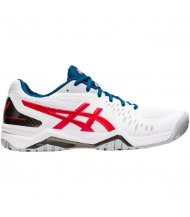 ASICS GEL-CHALLENGER 12 CLAY WHITE/CLASSIC RED