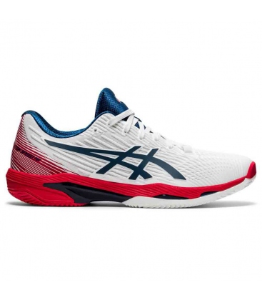 ASICS SOLUTION SPEED FF 2 CLAY WHITE/MAKO BLUE